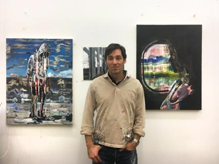 Der ungarisch-deutsche Maler Dénesh Ghyczy